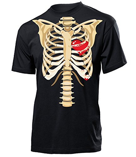 Skelett 5935 Halloween Kostüm Herren Männer T-Shirt Artikel Outdoor Dekoration Zubehör Spinnennetz Handschuhe Augen Grabstein Reissverschluss Gesicht