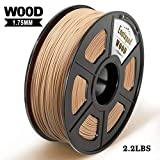 Wood 3D Printer Filament, Maßgenauigkeit +/- 0,02 mm, 1 kg/Spule, 1,75 mm,wood, umweltfreundlich Filament Geeignet für 3D-Drucker / 3D-Druckstift 20% Wood Fiber Holz