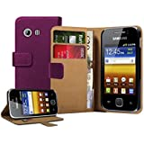 Membrane - Violet Portefeuille �tui Coque Samsung Galaxy Y (GT-S5360) - Flip Case Cover Housse + 2 Films de protection d'�cran