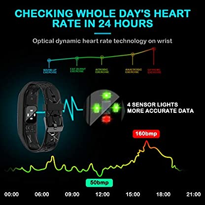 Pulsera Actividad Hombre Mujer – Pulsera Actividad Inteligente Reloj GPS Temporizador Podómetro Pulsómetro Impermeable IP68 Pulsera Deportiva Smartwatch Para Xiaomi Samsung Huawei Android iPhone iOS