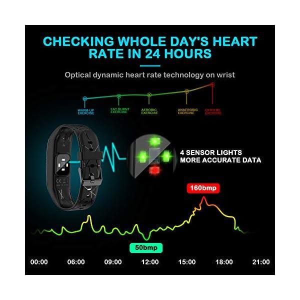 Pulsera Actividad Hombre Mujer - Pulsera Actividad Inteligente Reloj GPS Temporizador Podómetro Pulsómetro Impermeable IP68 Pulsera Deportiva Smartwatch Para Xiaomi Samsung Huawei Android iPhone iOS 3