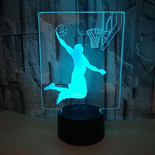 HNXDPShooting Basketball 3d NachtlichtSchöne7 Farbwechsel 3D Lampe Weihnachtsgeschenk fürBabyzimmerLichter
