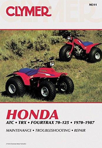 Honda ATC TRX 4Trax 70-125 70-87: Clymer Workshop Manual (Clymer All-Terrain Vehicles)