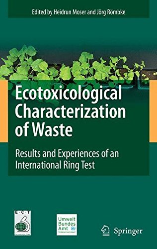 [(Ecotoxicological Characterization of Waste : Results and Experiences of an International Ring Test)] [Edited by Heidrun Moser ] published on (May, 2009)
