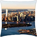 """the future freedom tower in nyc - Throw Pillow Cover Case (18"""" x 18"""")"""