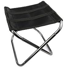 yhanonal pesca taburete plegable silla de camping al aire libre resistente nailon de aluminio plegable silla