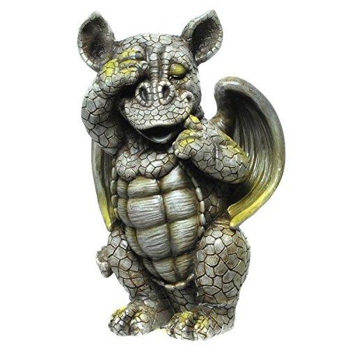 Drache-Drachen-(D4) Murmeltier Erdmännchen Gartenzwerg Gartenfigur Tierfigur NEU Wetterfest Gartenzwerg Deko Polystone Reptil Fantasy Krokodile