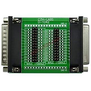 Electronics-Salon D-Sub DB25 Messung oder Test Adapter Module Board, Stecker auf Buchse, DSUB DB. 25
