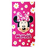 Disney Minnie Infantil Flowers Beach Towel Ddeal for Beach, Gym and Swimming pool