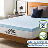 Cloth Fusion Fruton 2 inch Gel Memory Foam Mattress Topper for Queen Size Bed (72'x60'x2',White)