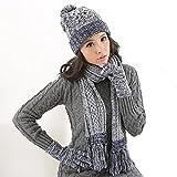 Questo ricco colori solidi scarf offre una varietà di opzioni di colori per abbinare il vostro indossare ogni giorno perfettamente. Cappello e sciarpa a maglia insieme femminile, molto caldo e la moda da indossare in inverno, fatta di materia...