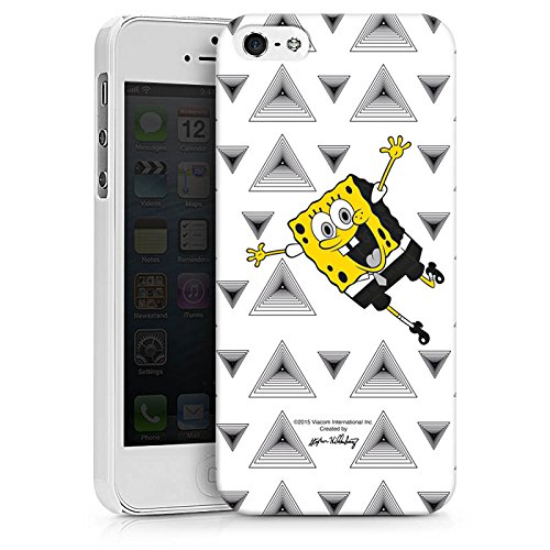 Apple iPhone X Silikon Hülle Case Schutzhülle Spongebob Fanartikel Merchandise Triangle Mono Hard Case weiß
