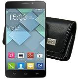 MTT Custodia per/Alcatel One Touch Idol Alpha/Orizzontale Custodia in pelle Protettiva Flip Case Cover Custodia con Passante per cintura