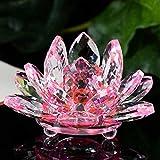 ZBBSHOP Lotus Cristal Verre Dessin Ville décoration Feng Shui décoration Collection rétro décoration Accessoires de Maison Statue Artisanale...
