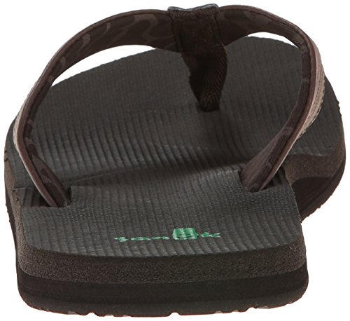 Sanuk Beer Cozy Light Synthetik Badesandalen Dunkelbraun