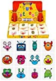 HENBRANDT Monsters Temporary Tattoos for Children 24 Assorted Designs Perfect Party Bag Filler & Gift Idea for Children (Pack of 24)