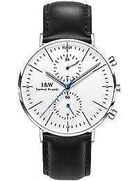 jianianhua IW Serier 8757–5g 30m Wasserdicht Ultrathin Case Schutzhülle Business Lederband Herren Quarzuhr Armbanduhr