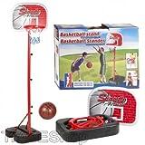 TrAdE shop Traesio®® Set Basketball mit Deckenfluter Kinder Höhe Verstellbar 140–166cm Sport