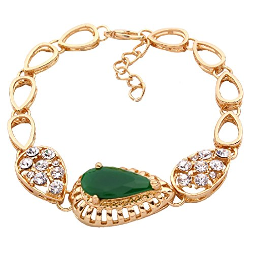 QIYUN.Z Kette Anhänger Gold Frauen Kette Collier Harz Schmuck Ohrring Armbandring - 3