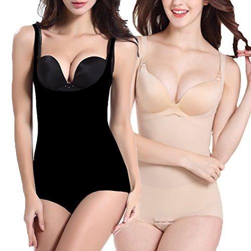 2 Unidades Libella Body Faja Modeladora Reductora faja de mujer que realzan tu figura con efectos vientre plano y con la puntera reforzada 3603 Negro+Beige L/XL