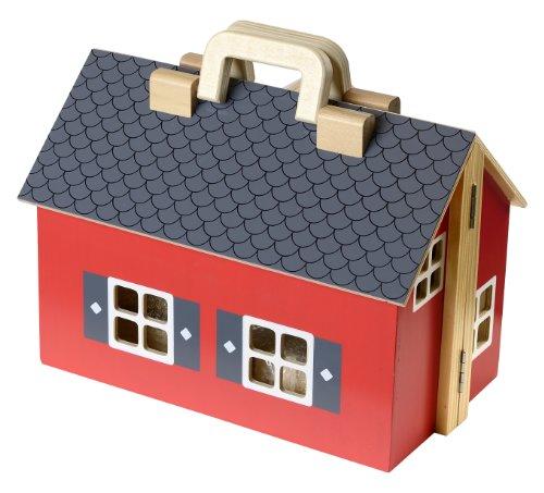 Color gris con dos compartimentos Estante infantil con forma de casita de AFAEPS Sonp/ó Online Modelo AFA31 Hecho a mano de manera artesanal en madera