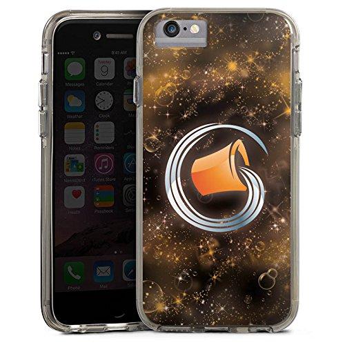 Apple iPhone 7 Bumper Hülle Bumper Case Glitzer Hülle Sternzeichen Wassermann Astrologie Bumper Case transparent grau