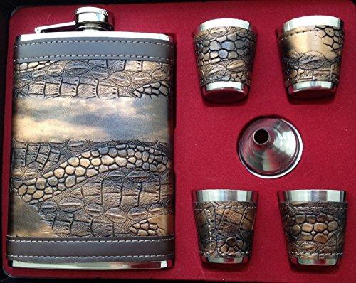 Original GMMH Flachmann Set LN 35-42 Taschenflasche Edelstahl mit Schraubverschl?uß Taschenflachmann Flask 240 ml
