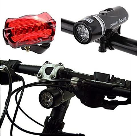 West Biking Bike Light Set - Super Bright LED Lights for Your Bicycle - Easy to Mount Headlight and Taillight with Quick Release System - Best Front and Rear Lighting - Fits All