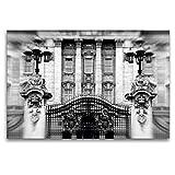 Premium Textil-Leinwand 120 x 80 cm Quer-Format Buckingham Palace | Wandbild, HD-Bild auf Keilrahmen, Fertigbild auf hochwertigem Vlies, Leinwanddruck von Reiner Silberstein