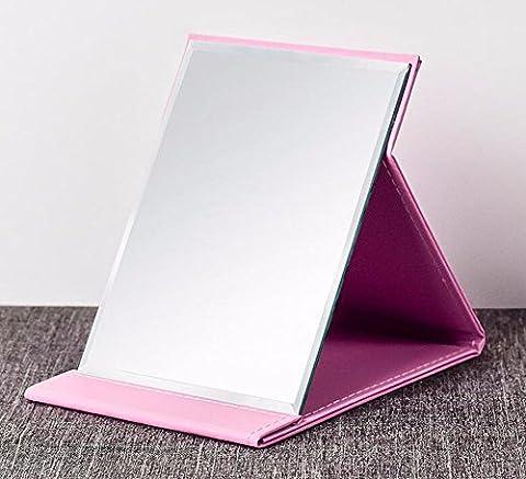 QPSSP Miroir, Miroir Portatif Pliable, Miroir De Maquillage Haute Définition Sur Ordinateur De Bureau, L