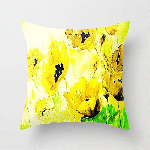 LULABE FLORAL#03 Throw Pillow Cushion Cover for Couch Sofa Or Bed Set Cozy Home Decor Size:16 X 16 Inches/40cm x 40cm Floral Ruffle Edge