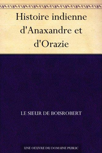 Couverture du livre Histoire indienne d'Anaxandre et d'Orazie