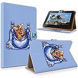"art&cherry 7"" (7Zoll) Tablet / Tablet-PC Hülle Case - Fintie Ultradünne Smart Shell Cover Lightweight Schutzhülle Tasche Etui Tigerbaby"