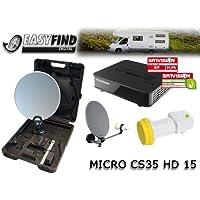 Micro CS 35HD 15Easy Find digitale Camping Impianto satellitare (Easy Find, Full HD, HDMI, USB, 230/12V) Nero prezzi su tvhomecinemaprezzi.eu