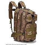 TnXan Outdoor Army Fan Backpack Hiking Backpack Nylon 30L Waterproof Tactical Backpack Rucksack Mens Sports Camping Hiking Mountaineering Fishing Hunting Bag