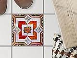 creatisto Badsticker, Bad-Fliesen | Bodenfliesen Sticker Aufkleber Folie Bad Küche Fliesenmotiv Badezimmer-Deko | 15x15 cm Muster Ornament Portugiesische Fliesen - 1 Stück