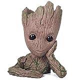 KeQi Baby Groot Blumentopf - Marvel Action-Figur aus Guardians of The Galaxy für Pflanzen & Stifte I AM Groot (Type A)