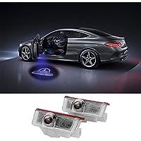 LiDiwee Kit de lámpara de puerta LED Logo 3D Car Door Projector 5wat para Benz Clase A B C E GL M 4MATIC sin modificación (2 piezas)