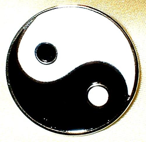Metal Enamel Pin Badge Brooch Yin Yang (Taiji Taijitu)(Yingyang Ying Yang)
