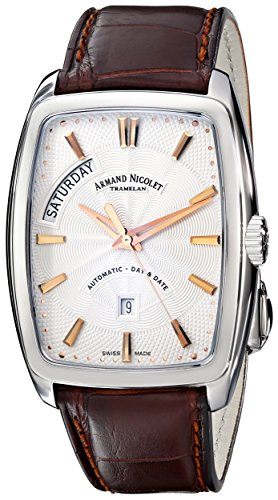 Armand Nicolet 9630A-AS-P968MR3 - Reloj , correa de cuero color marrón