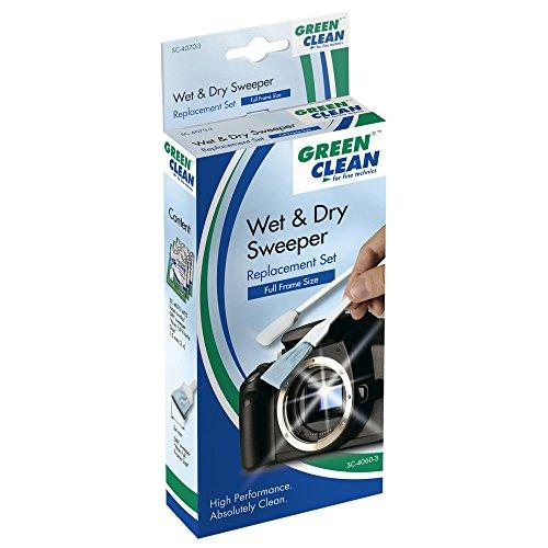 Green Clean SC-4060-3 - Pack de 3 bastoncillos con toallita seca y húmedo