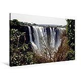 Premium Textil-Leinwand 90 cm x 60 cm quer, Victoria Falls, Sambia / Simbabwe | Wandbild, Bild auf Keilrahmen, Fertigbild auf echter Leinwand, Leinwanddruck (CALVENDO Orte) - Richard Walliser