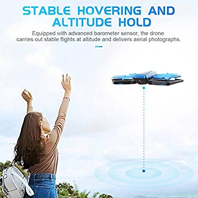 MiNi Foldable Drone, With 720P HD Videocamera, Advanced 6-Axis Gyroscope Quadcopter, FPV WiFi Live Video, With Mobile RC Drone Of APP Control, One Key Return Home, For Beginners Kids And Adults
