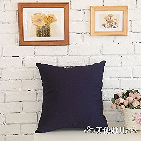 zzybed-sofa manta funda de almohada casa, oficina y coche decorativa cojín almohada, azul oscuro, 30X45cm