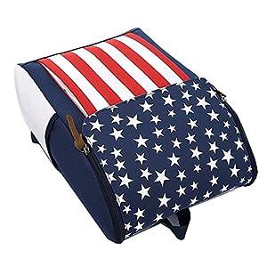 51QA2JmUR4L. SS300  - Moda raya de la bandera americana Bandera de Estados Unidos Mochila Para la escuela Los estudiantes