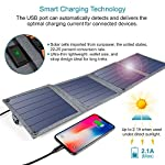 Solar Charger, CHOETECH 14W Waterproof Portable USB Outdoor Solar Panel Charger with 4 Foldable Solar Panel for… 10