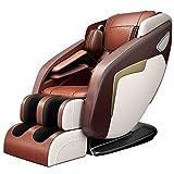 Armchair Sillón de Masaje reclinable, sillas SL Pista 2D Mano la Gravedad Cero de Masaje, Cuerpo Completo Airbag terneros, 3 Niveles de Intensidad Ajustable, Estiramiento de Yoga, Altavoz Bluetooth