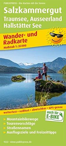 Salzkammergut, Traunsee, Ausseerland, Hallstätter See: Wander- und Radkarte mit Ausflugszielen & Freizeittipps, wetterfest, reißfest, abwischbar, GPS-genau. 1:35000 (Wander- und Radkarte / WuRK)