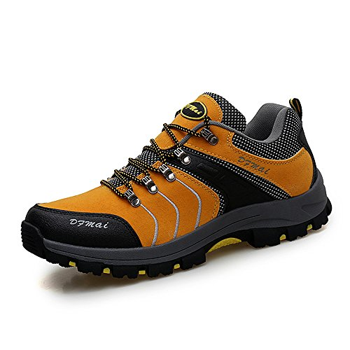 Dreamshow Herren Wanderschuhe Trekking Schuhe Atmungsaktiv Outdoor Hiking Schuhe Leichte Rutschfest Wandern Walking Schuhe 39-45