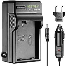 Neewer Caricabatterie con Indicatore LED per Nikon EN-EL14, con Spina USA Spina UE & Adattatore da Auto, Adatto a Reflex Digitali Nikon D3200 D3100 D5200 D5100 D5300, Fotocamere Digitali Coolpix P7800 P7000 P7100 & Impugnature Portabatteria MB-D31 MB-D51